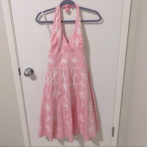 Lilly Pulitzer Willa Embroidered Halter Dress NWT